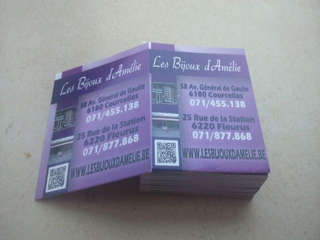 carte visite carree
